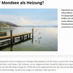 """Klima- und Energiefonds berichtet über """"Mondsee als Heizung"""" und eines der spannendsten Energieprojekte Österreichs"""