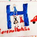 Schülerinnen und Schüler der Volksschule Loibichl gestalten Tafel für Elternhaltestelle
