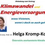 Vortrag von Klimaforscherin Helga Kromp-Kolb